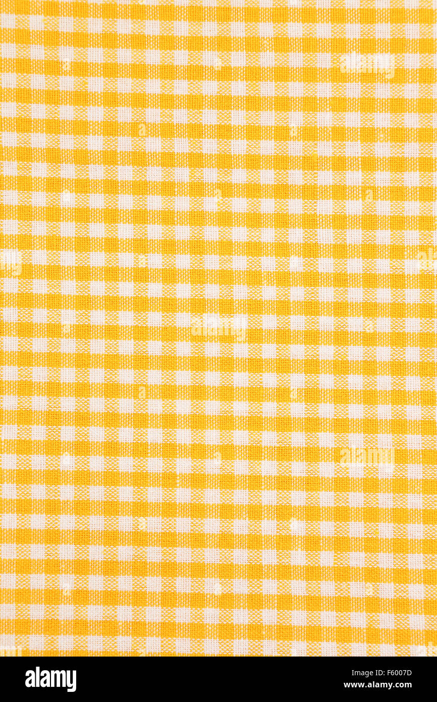 Detail Of Yellow And White Checkered Tablecloth Backgrounds