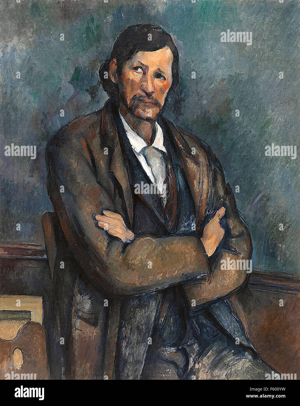 Paul Cézanne - Man with Crossed Arms - Stock Image