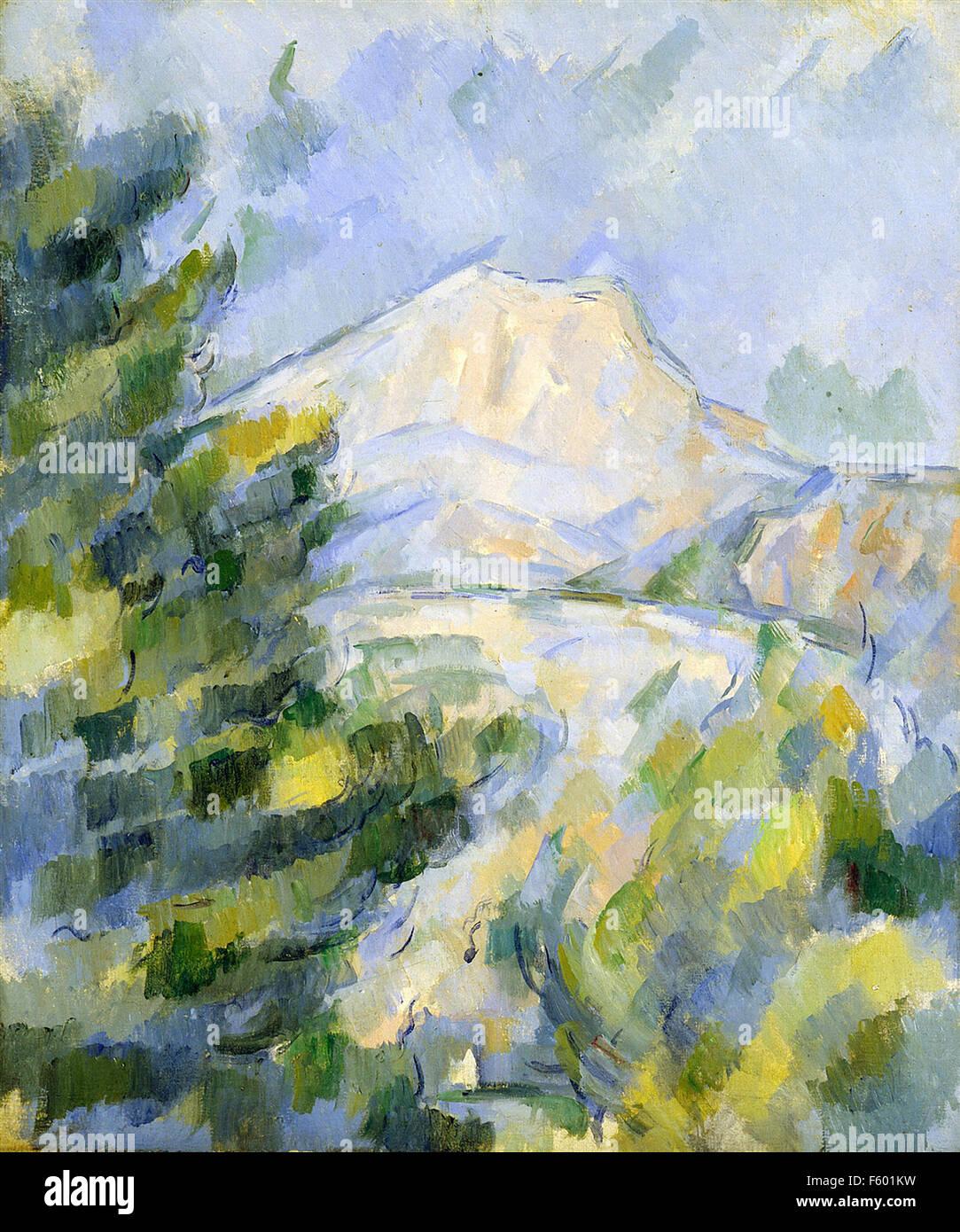 Paul Cézanne - Mont Sainte Victoire  (1) - Stock Image