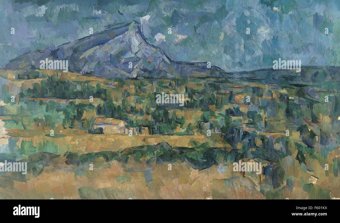 Paul Cézanne - Mont Sainte-Victoire 28 - Stock Image