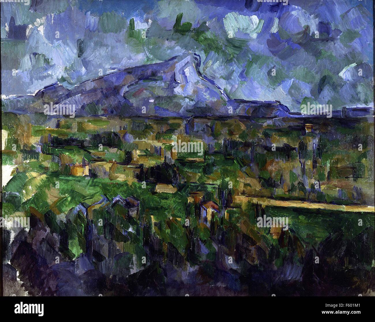 Paul Cézanne - Mont Sainte Victoire - Stock Image
