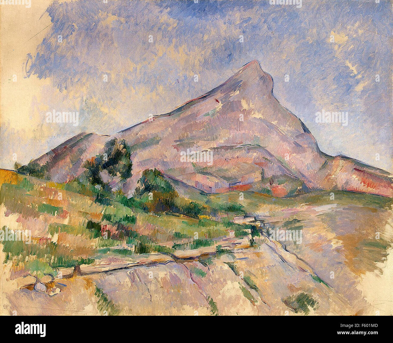 Paul Cézanne - Mont Sainte-Victoire 56 - Stock Image