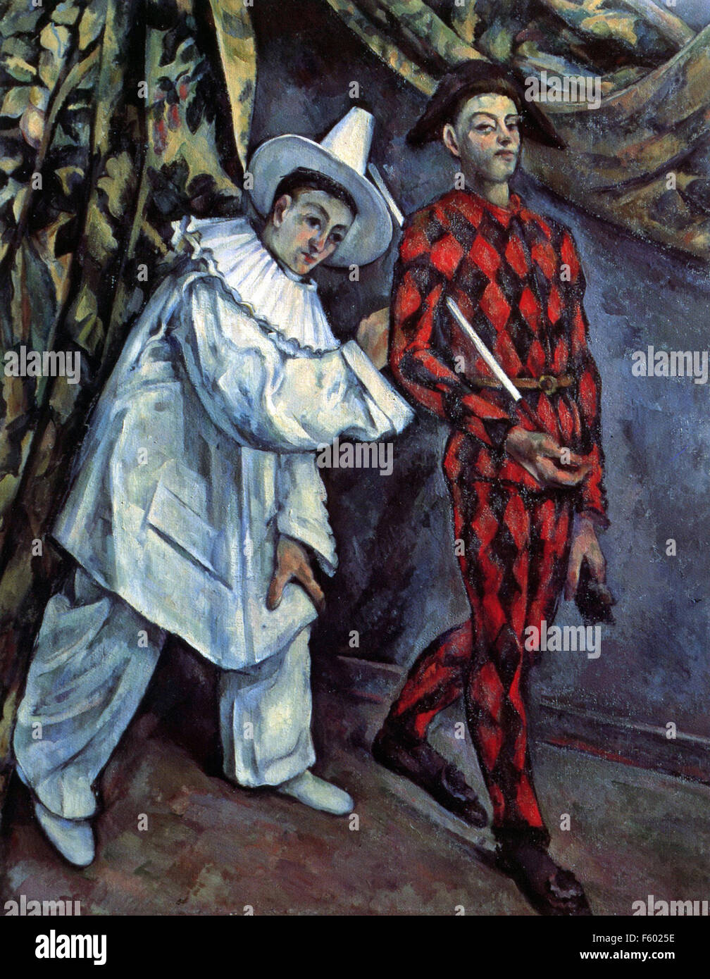 Paul Cézanne - Pierrot and Harlequin (Mardi Gras) - Stock Image