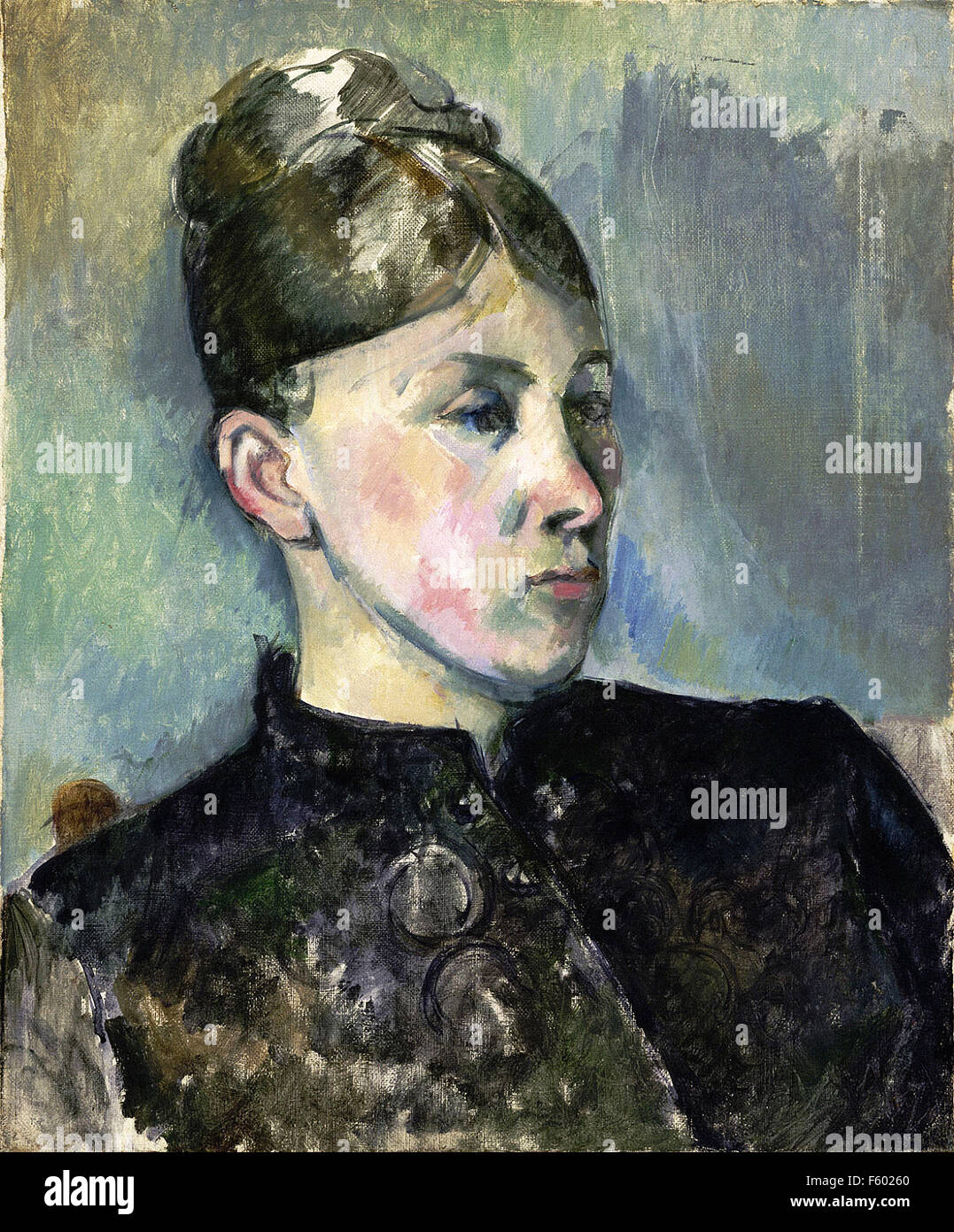 Paul Cézanne - Portrait of Madame Cézanne 12 - Stock Image