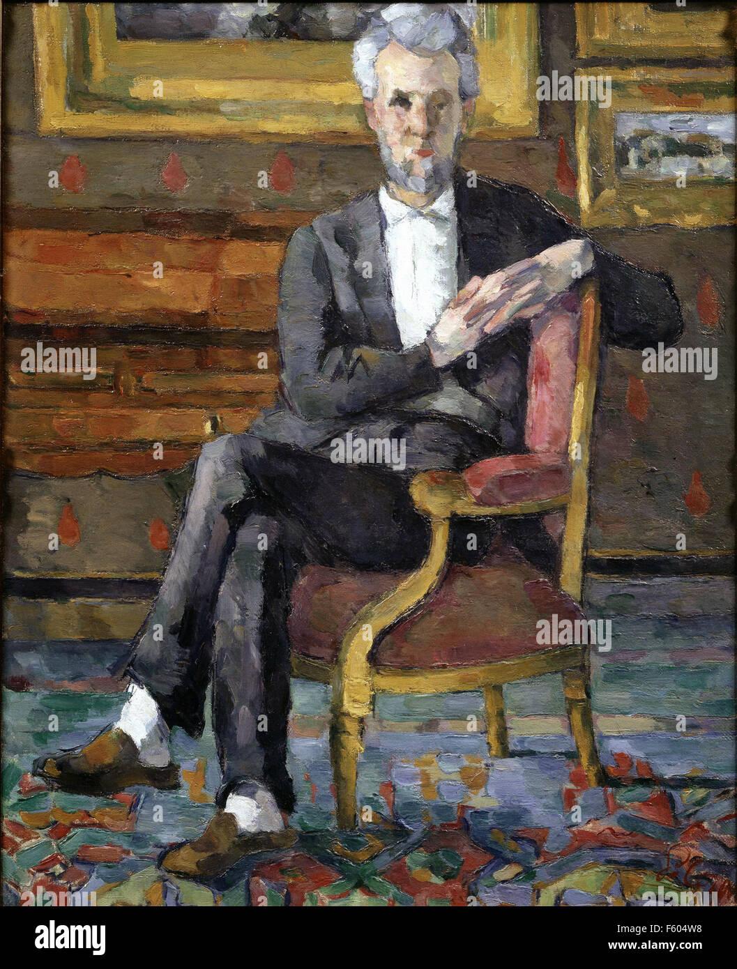 Paul Cézanne - Portrait of Victor Chocquet  - 1877 Stock Photo