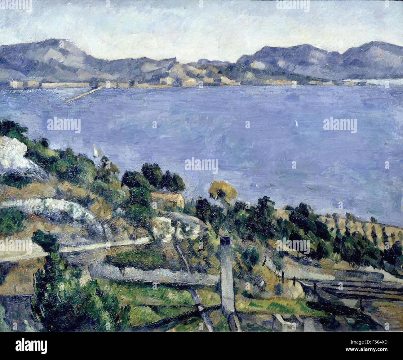 Paul Cézanne - L'Estaque : vue du golfe de Marseille - 1878 - Orsay Museum - Paris - Stock Image