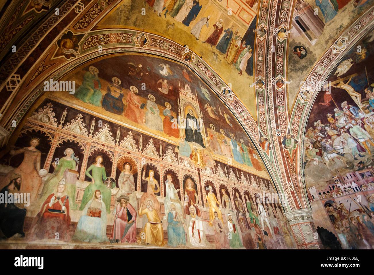 The Triumph of St. Thomas Aquinas The Spanish Chapel,Santa maria Novella,by Andrea di Bonaiuto (1365-1367) Stock Photo