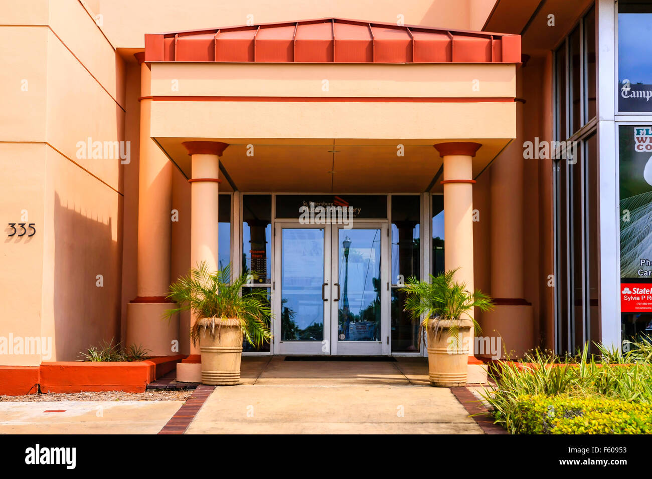 Entrance to the St. Petersburg Museum of History on 2nd Ave in this Florida city Stock Photo