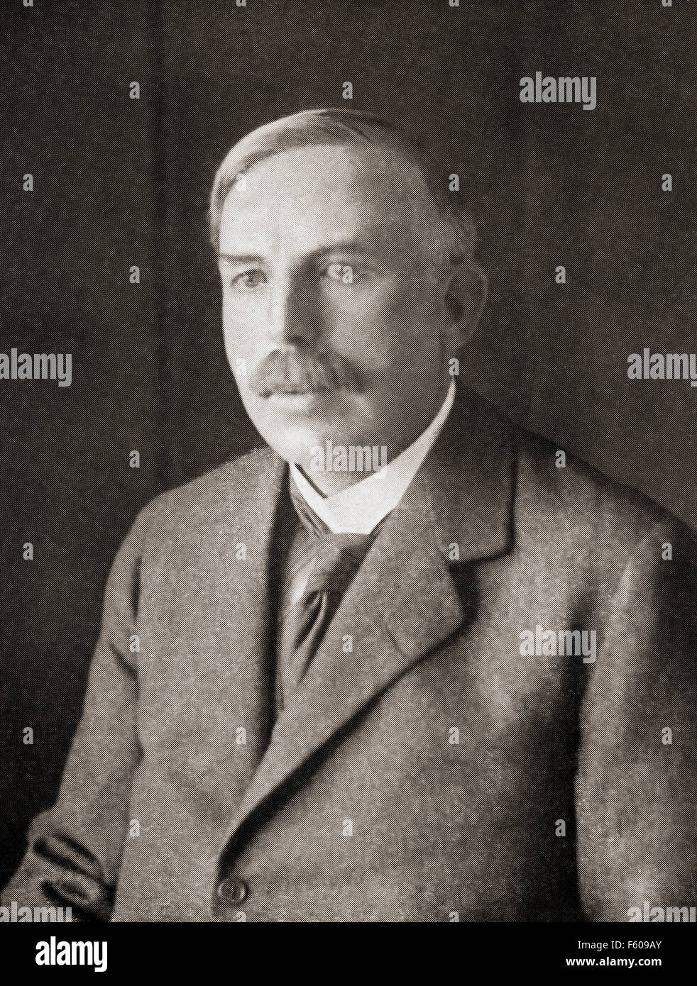 Ernest Rutherford, 1st Baron Rutherford of Nelson, 1871 – 1937.  New Zealand-born British physicist. - Stock Image