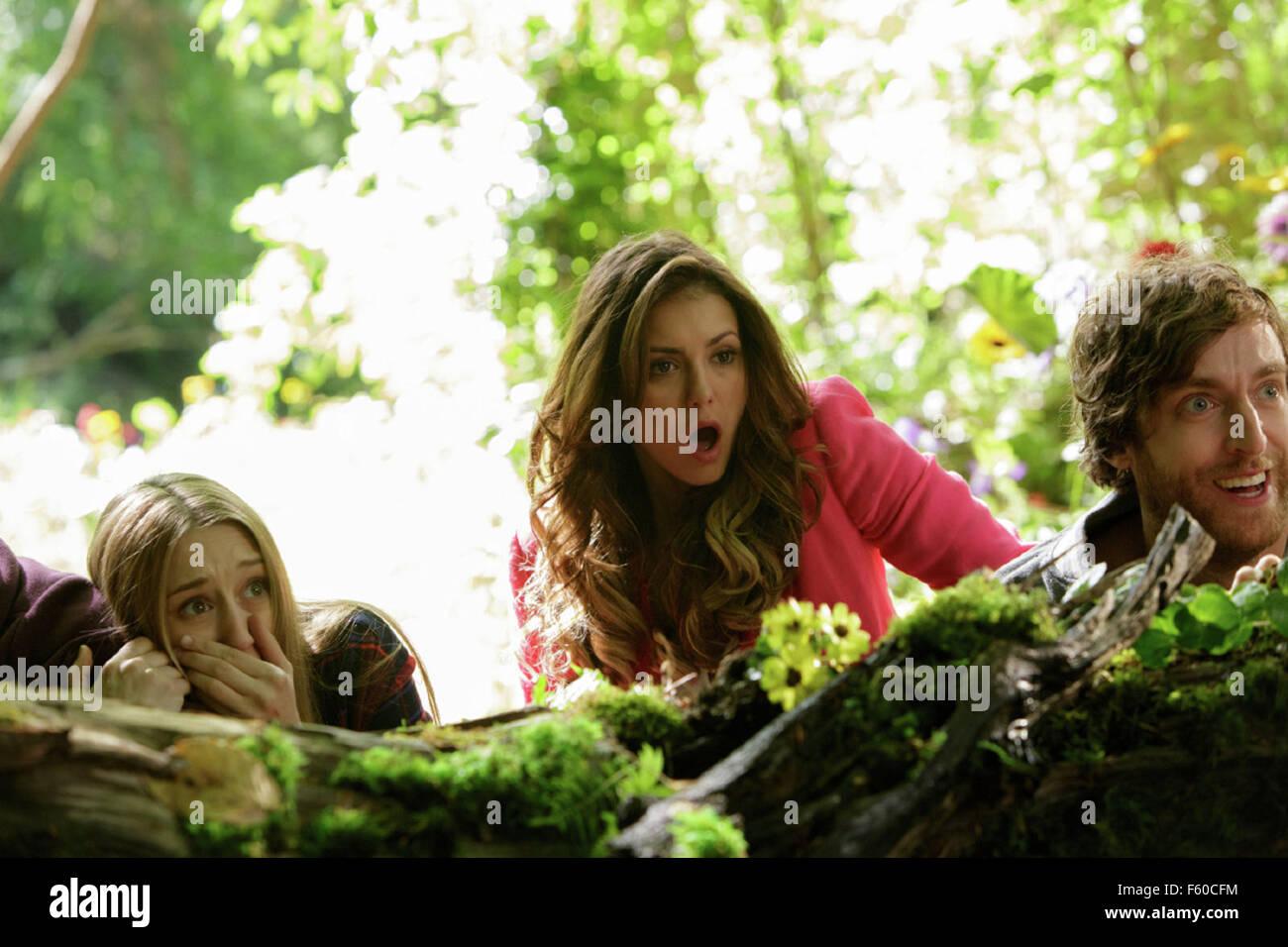 THE FINAL GIRLS (2015)  TAISSA FARMIGA, NINA DOBREV, THOMAS MIDDLEDITCH  TODD STRAUSS-SCHULSON (DIR)  MOVIESTORE - Stock Image