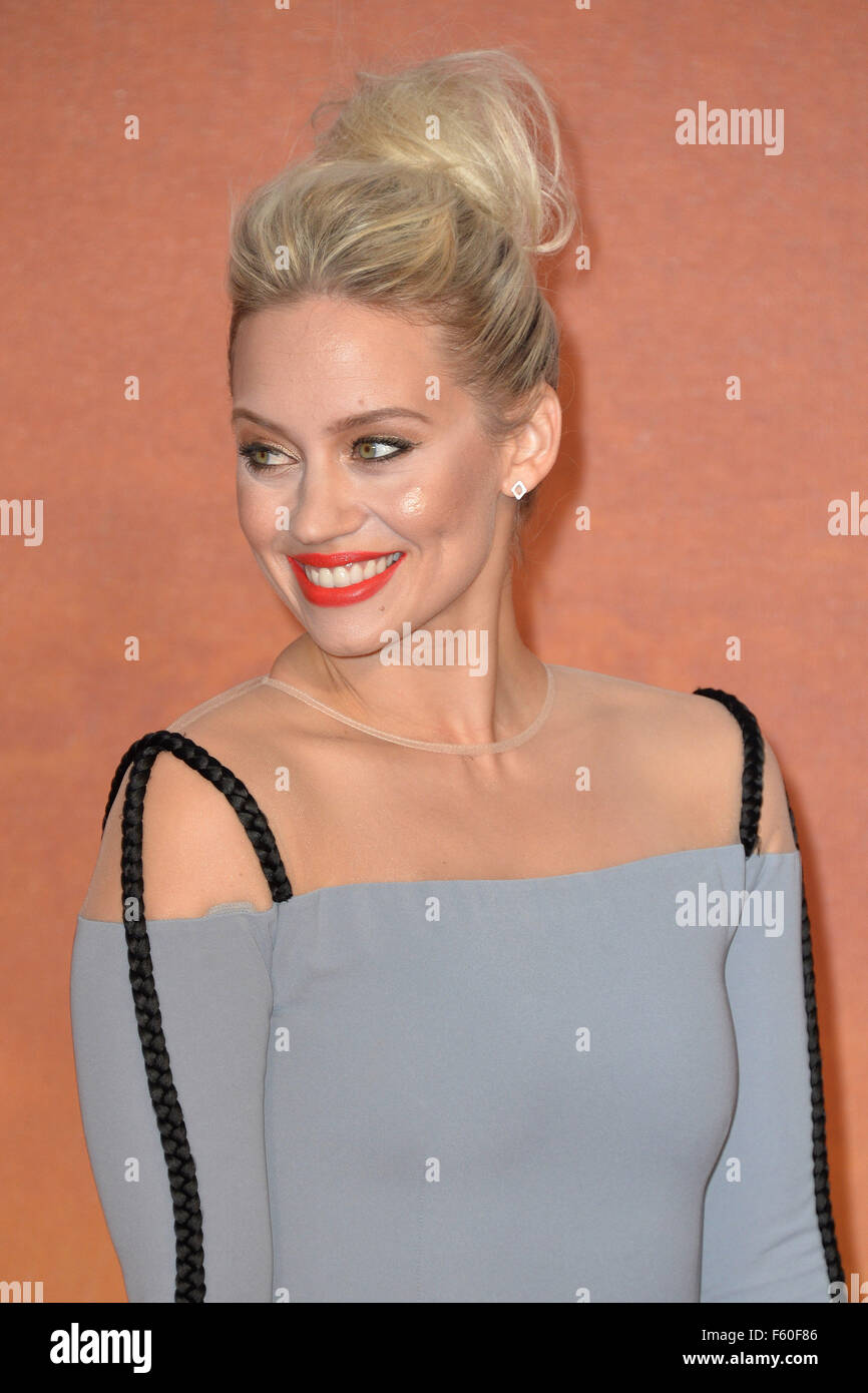 The Martian European Premiere  Featuring: Kimberly Wyatt Where: London, United Kingdom When: 25 Sep 2015 - Stock Image