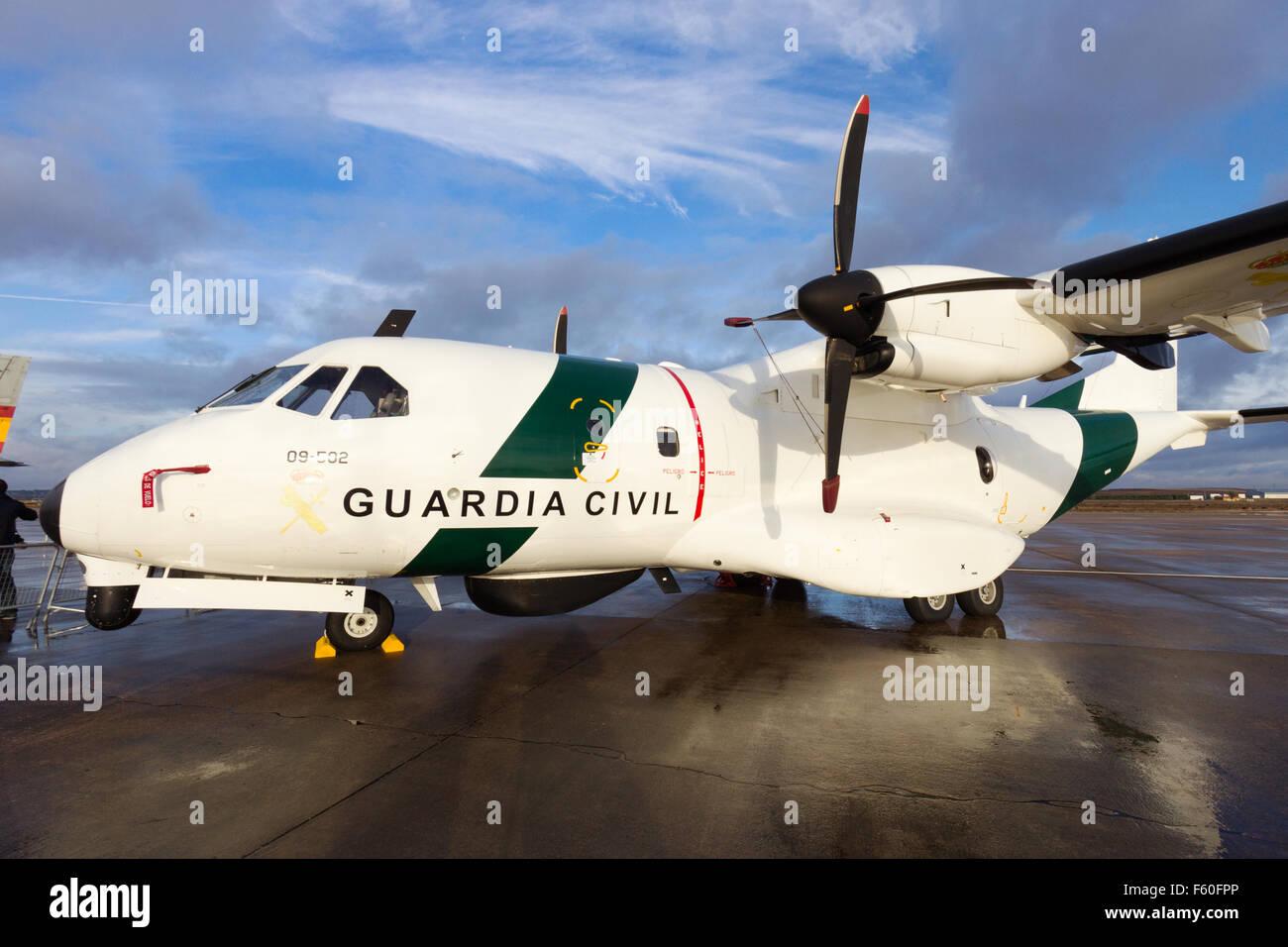 Spanish Guardia Civil Casa CN-235 patrol aircraft. Stock Photo