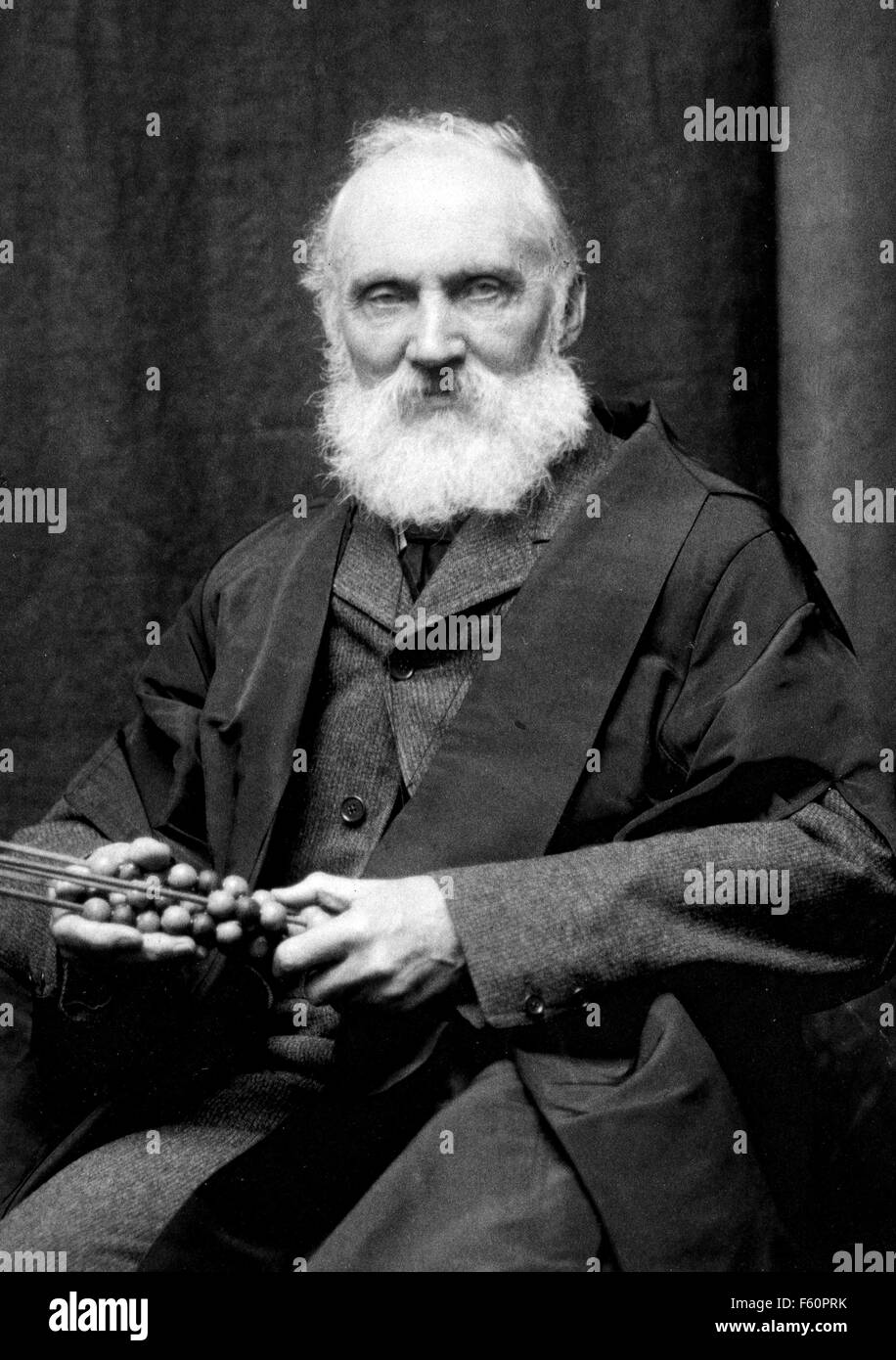 WILLIAM THOMSON, Lord Kelvin (1824-1907) Irish physicist and engineer about 1900 - Stock Image