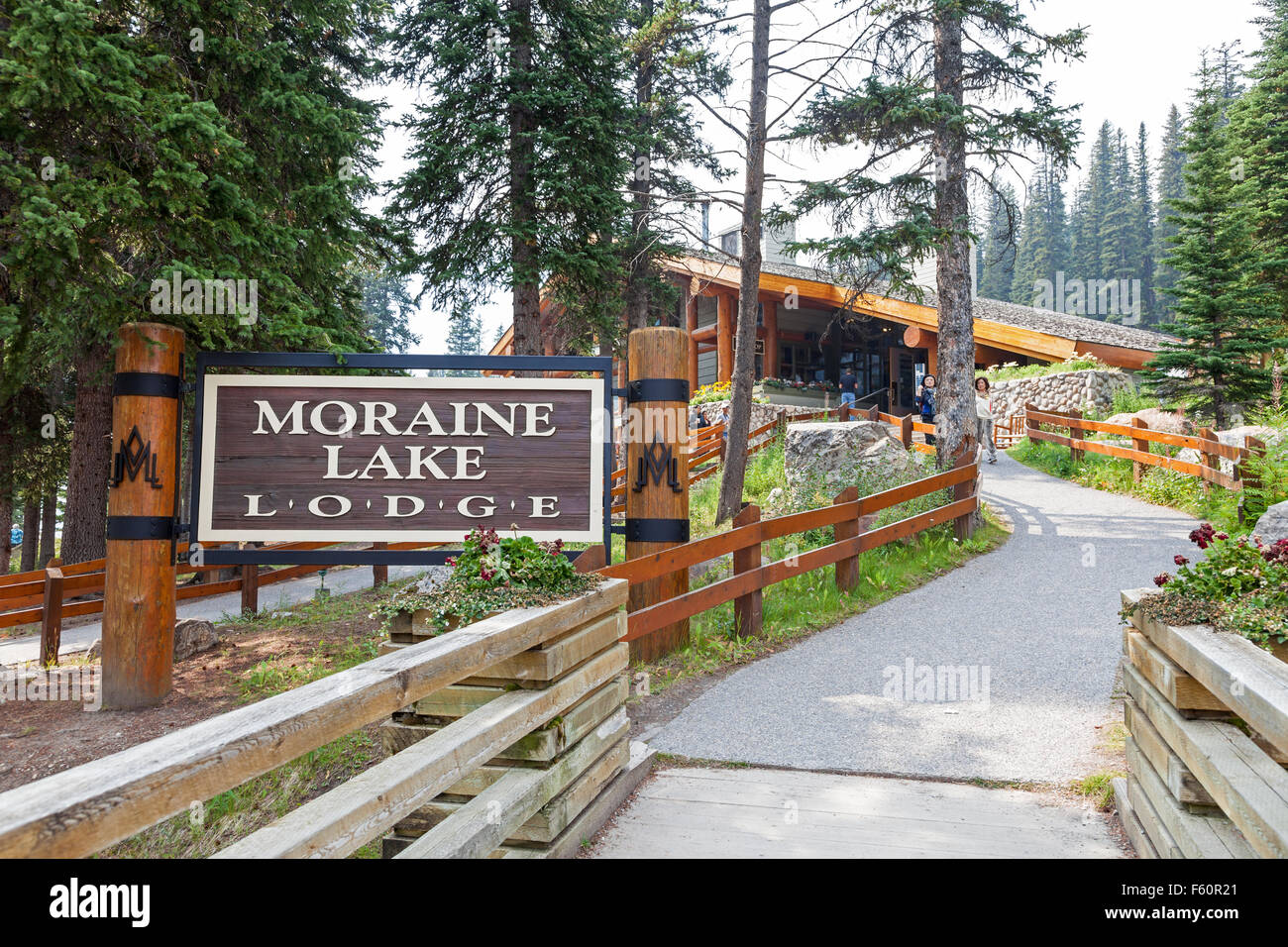 Moraine Lake Lodge Banff National Park Alberta Canada Wooden