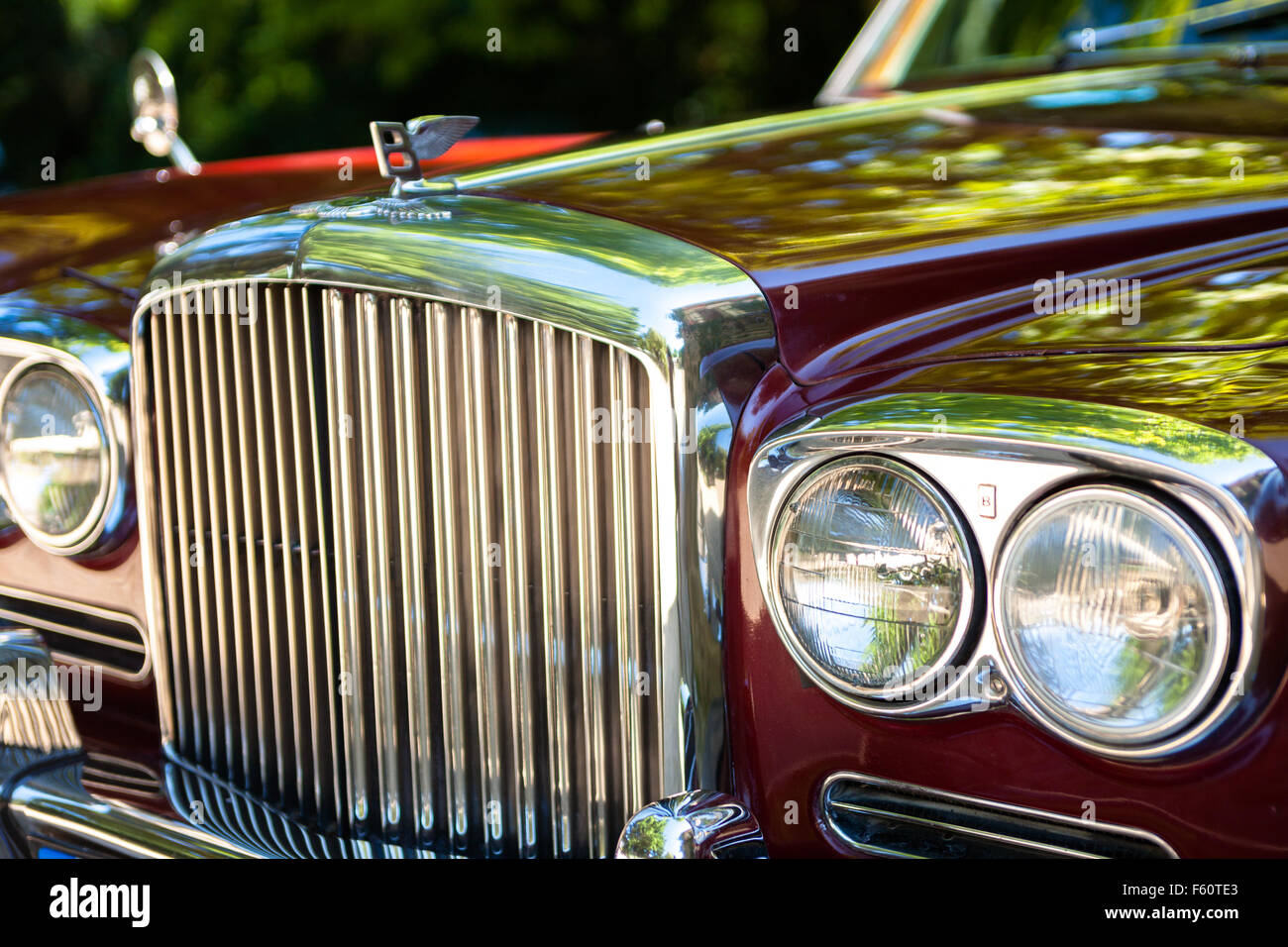 Front detail of a Bentley - Stock Image