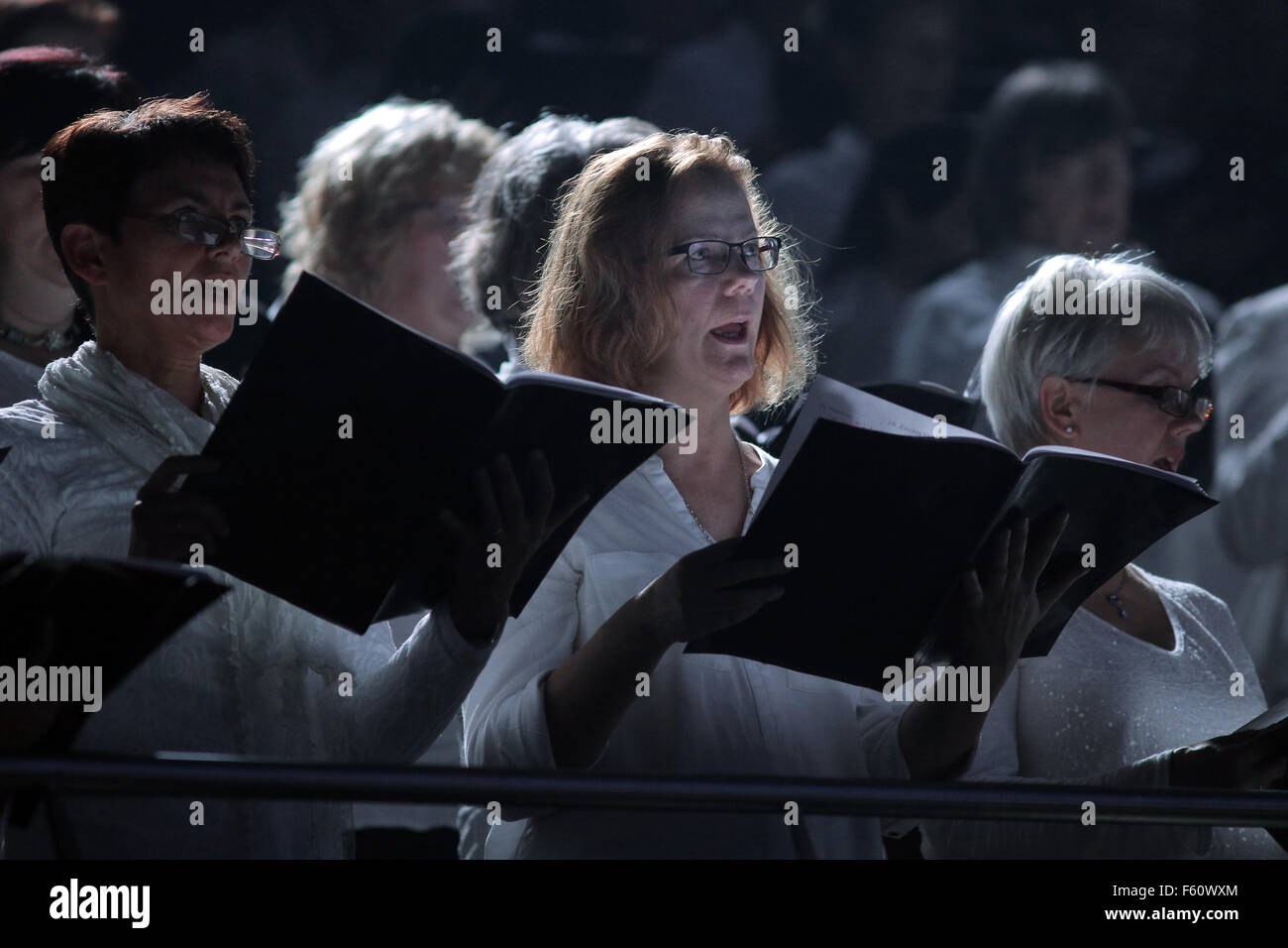 The Christian pop oratorio 'Luther' has been performed for the first time on stage on Reformation Day 31.Oct.2015 - Stock Image