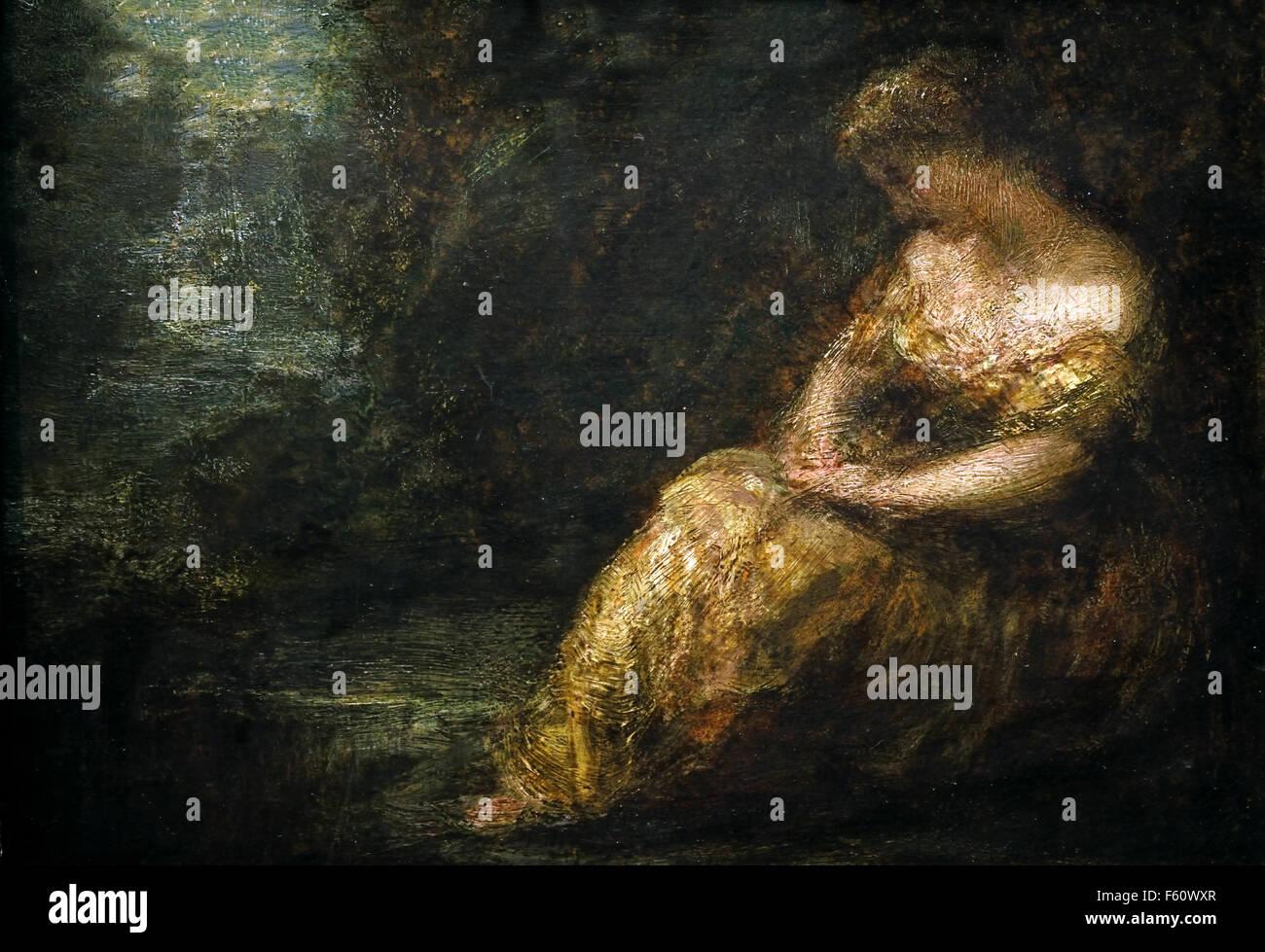 Reverie - Ribéry 1885   Henri Fantin Latour 1836-1904 France French - Stock Image