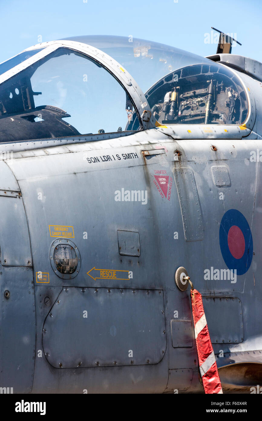 RAF fighter plane detail  Out of service RAF SEPECAT Jaguar
