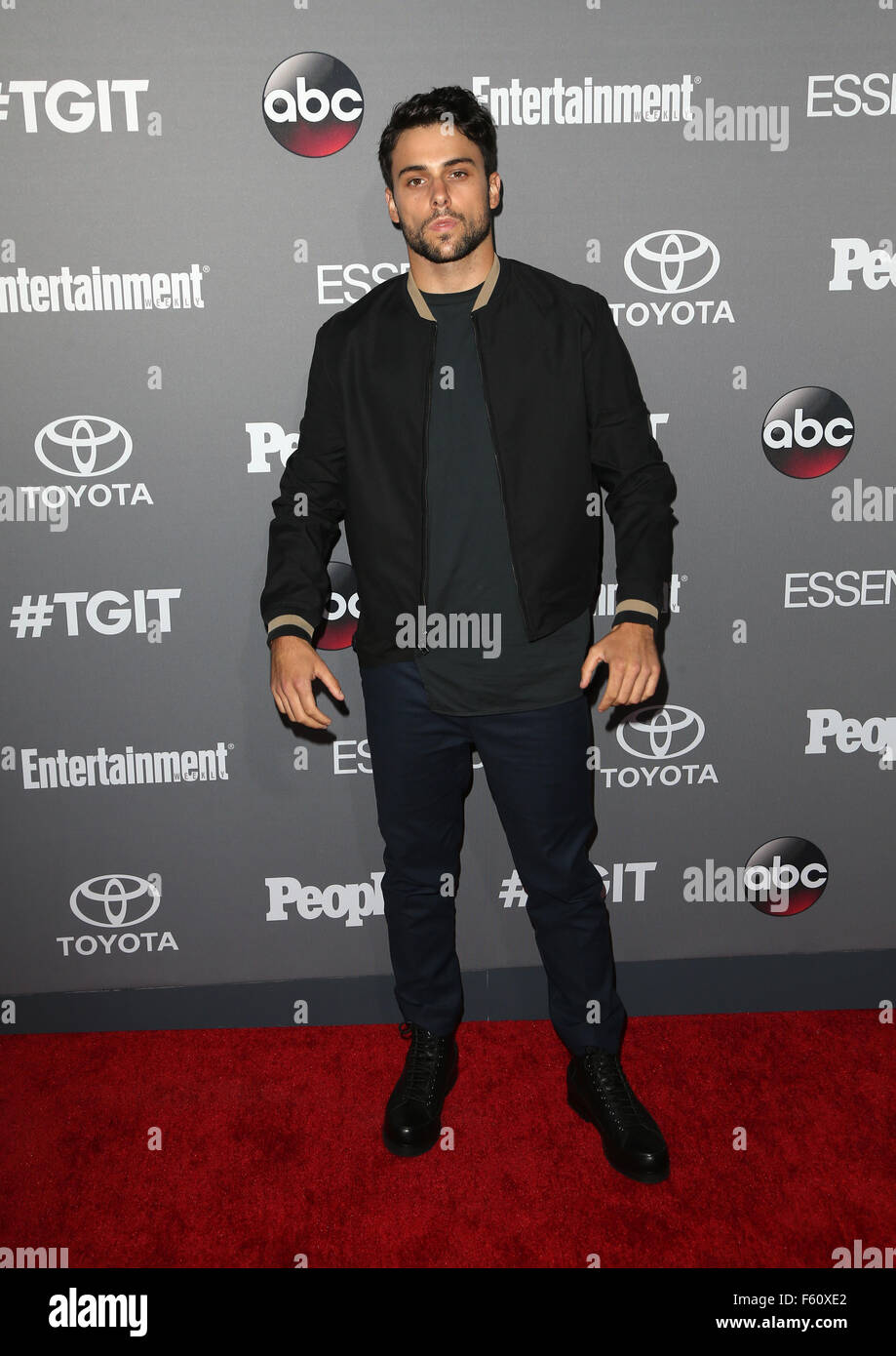 ABC's TGIT premiere event - Arrivals  Featuring: Jack Falahee Where: Los Angeles, California, United States When: Stock Photo