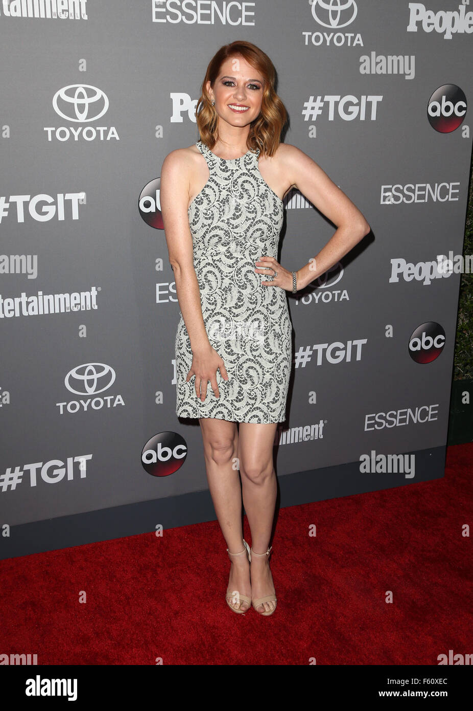 ABC's TGIT premiere event - Arrivals  Featuring: Sarah Drew Where: Los Angeles, California, United States When: Stock Photo