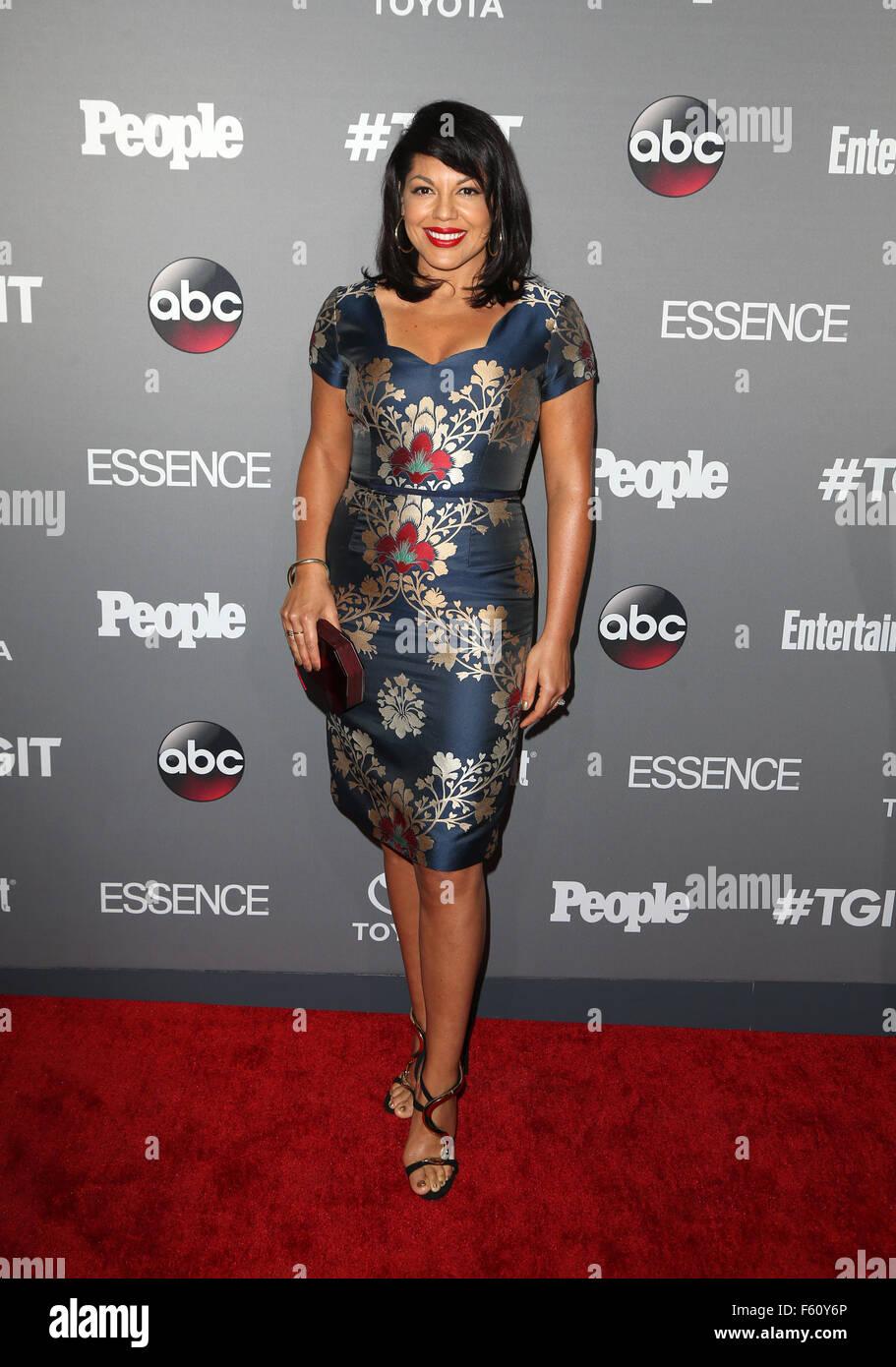 ABC's TGIT premiere event - Arrivals  Featuring: Sara Ramirez Where: Los Angeles, California, United States When: Stock Photo