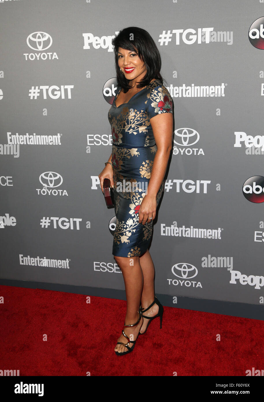 ABC's TGIT premiere event - Arrivals  Featuring: Sara Ramirez Where: Los Angeles, California, United States When: Stock Photo