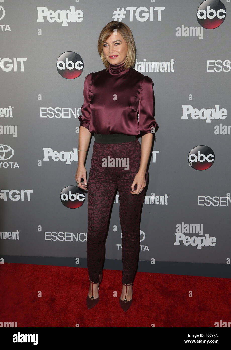 ABC's TGIT premiere event - Arrivals  Featuring: Ellen Pompeo Where: West Hollywood, California, United States When: Stock Photo