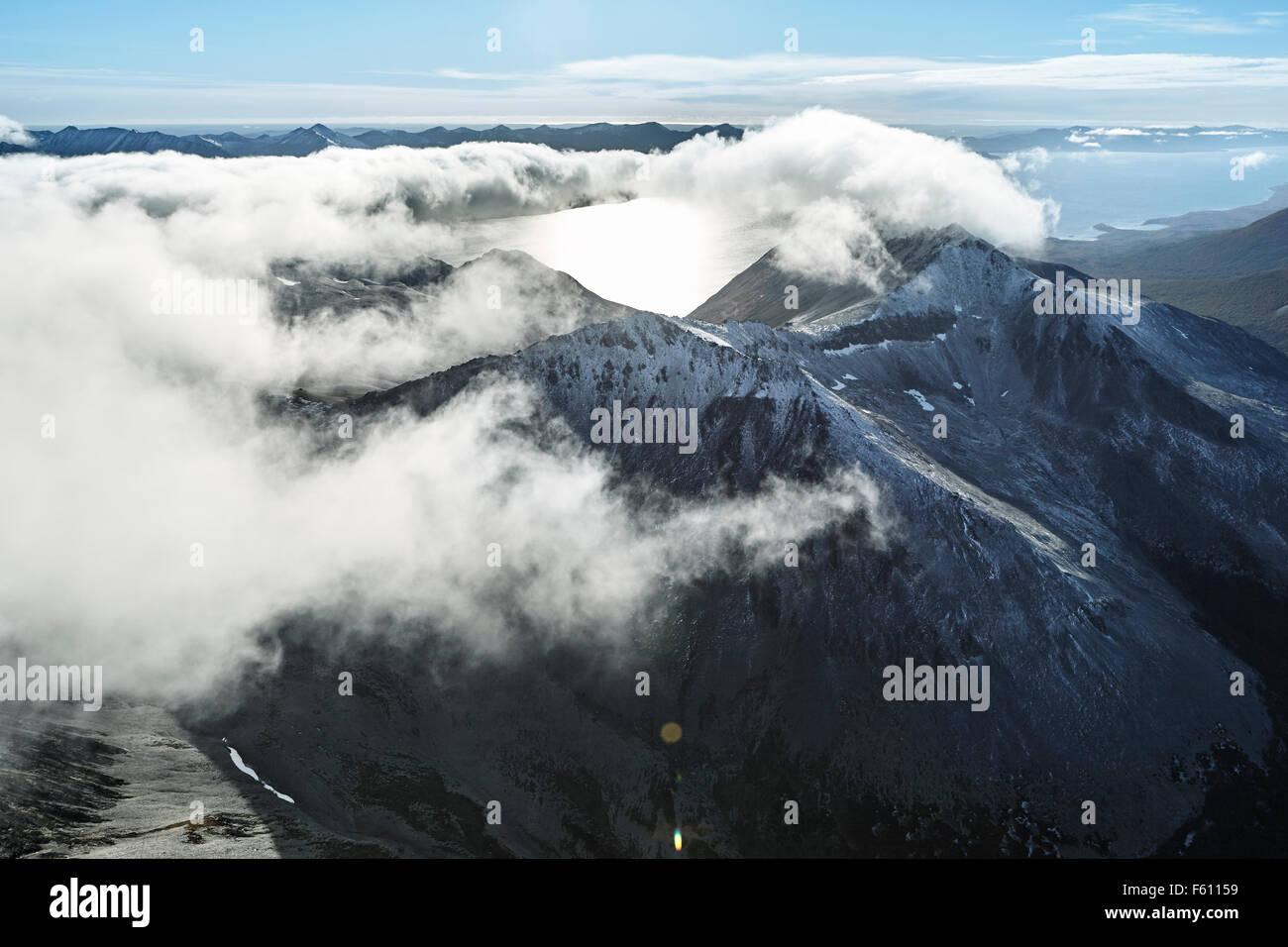 Aerial view, Tierra del Fuego, Argentina - Stock Image