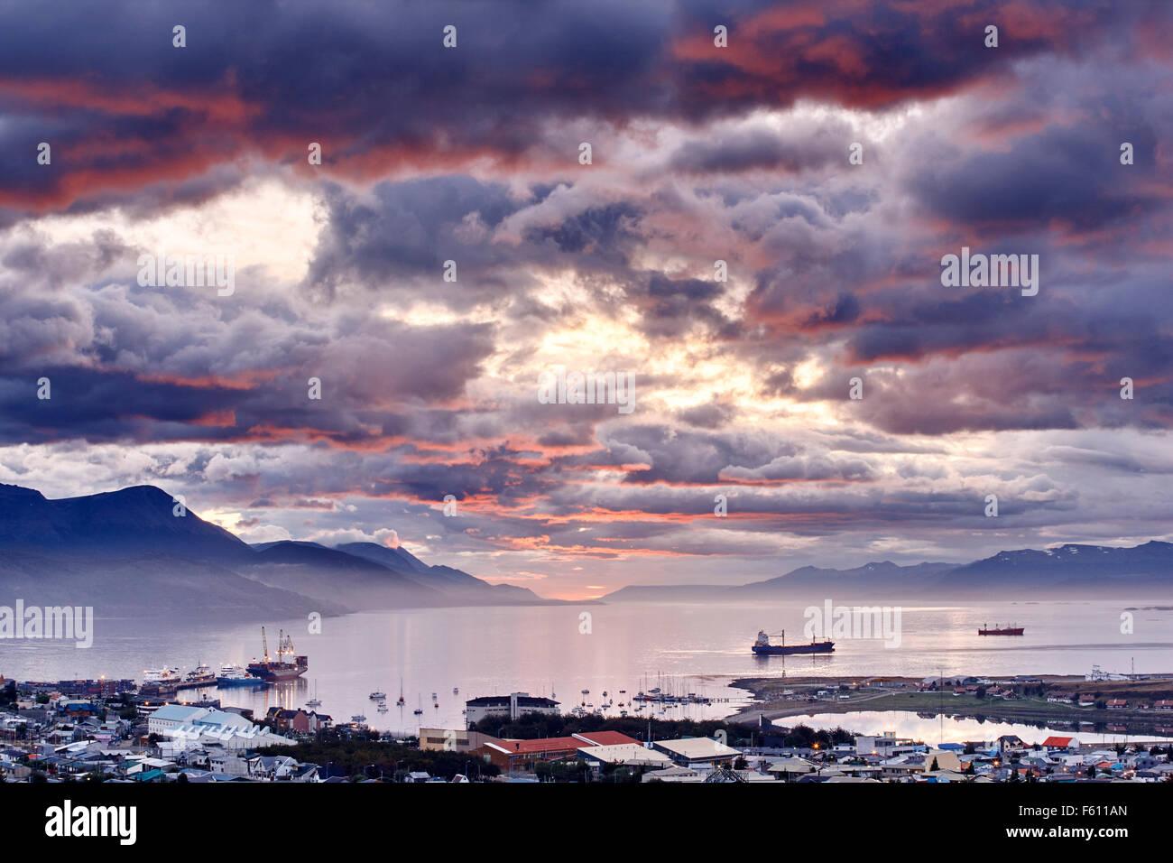 Port of Ushuaia, Tierra del Fuego, Argentina - Stock Image