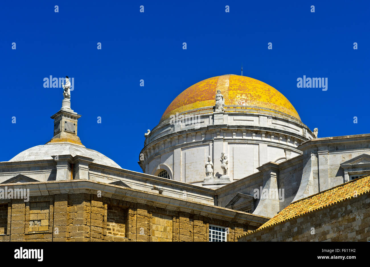 Dome, Cathedral of Cadiz, Andalucía, Spain - Stock Image