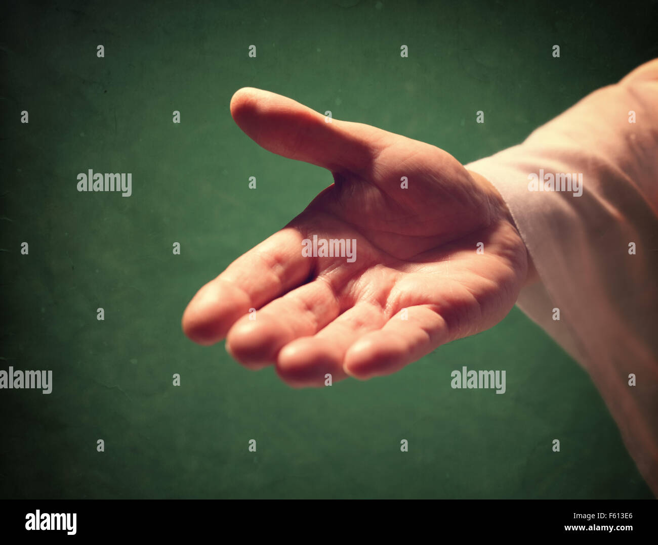 Hand of God reaching out - Stock Image