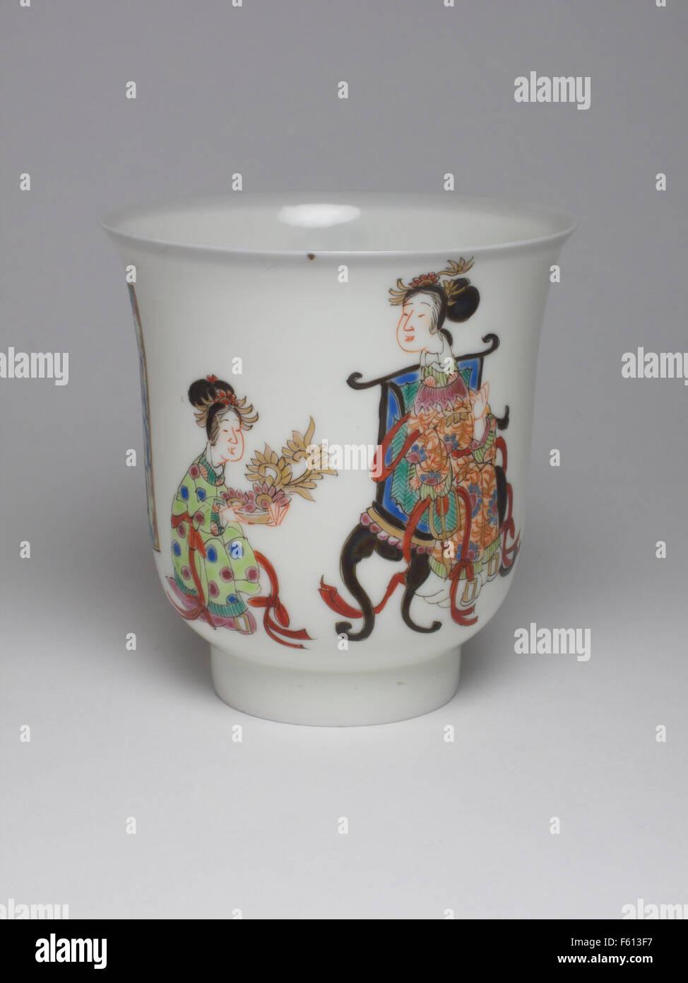 Antique 19th century Japanese porcelain beaker - Stock Image