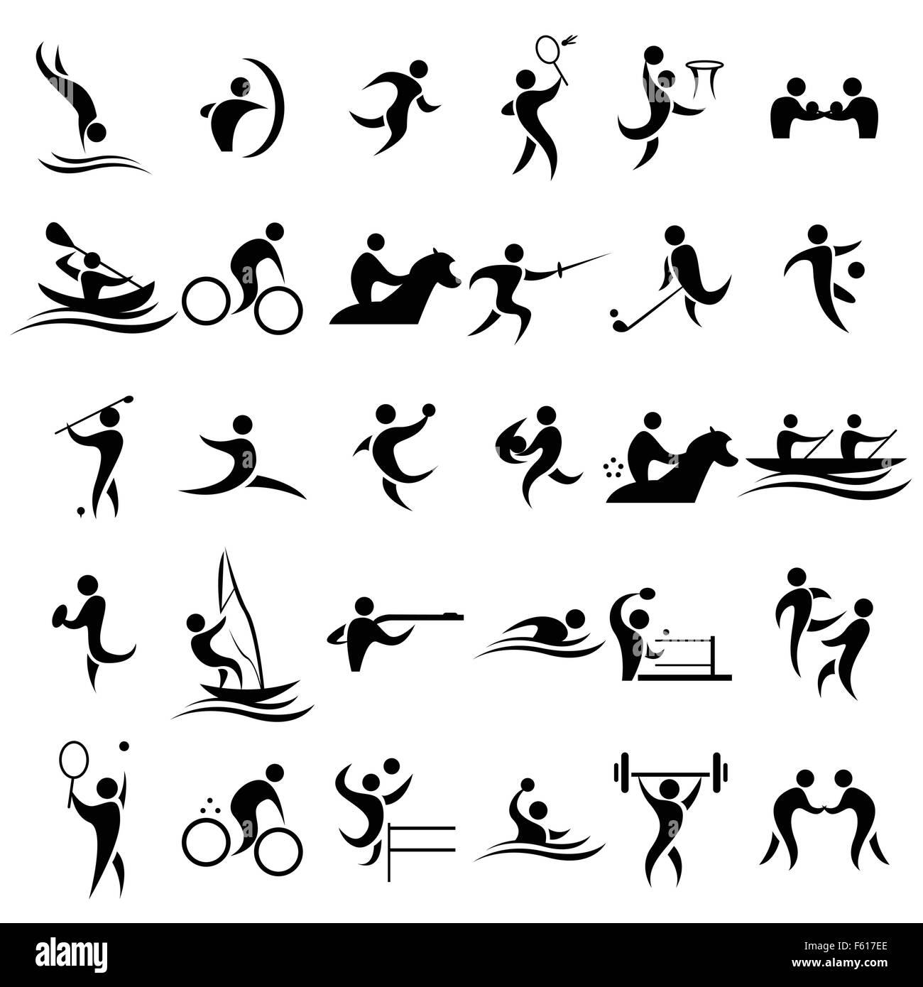 A vector illustration of sport icons sets - Stock Image