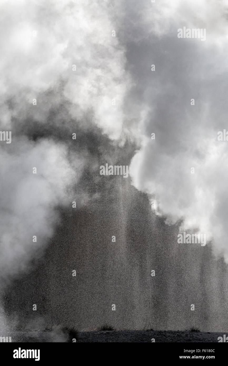 Black Growler steam vent Stock Photo