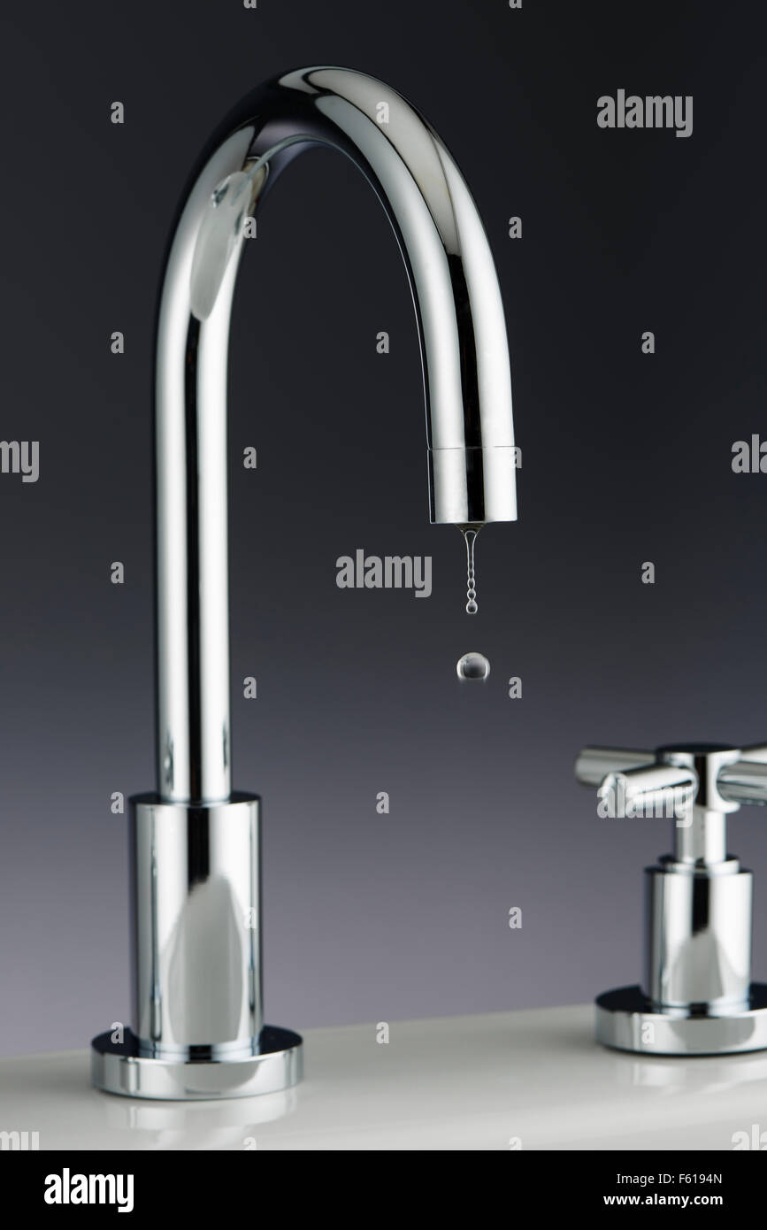 Tap with Water Drip - Stock Image