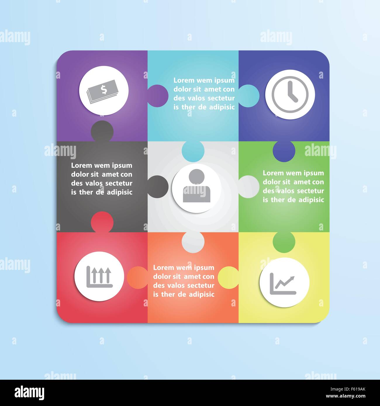 Jigsaw Puzzle Infographic Template Stock Photos Jigsaw Puzzle