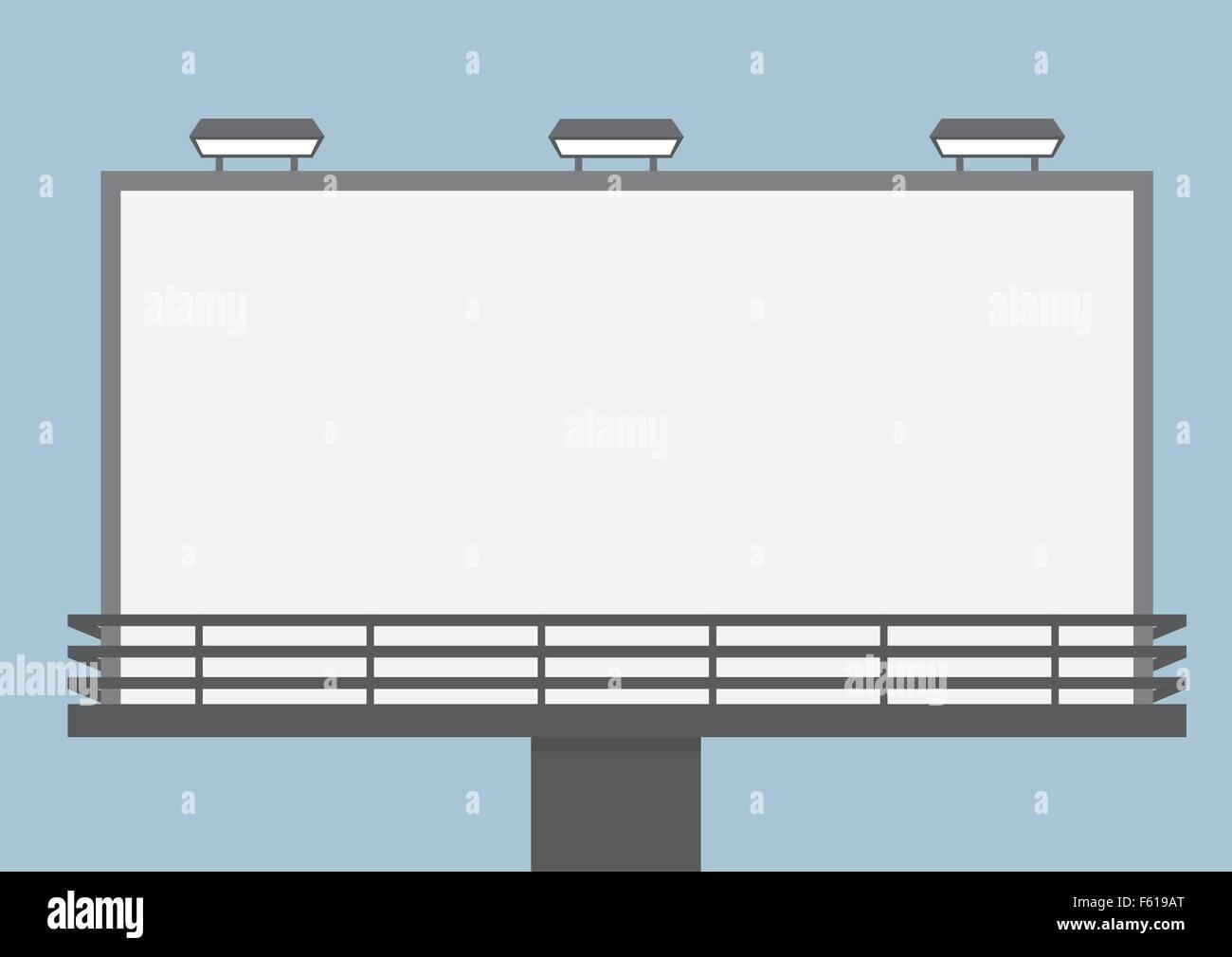 Outdoor blank billboard, VECTOR, EPS10 - Stock Vector