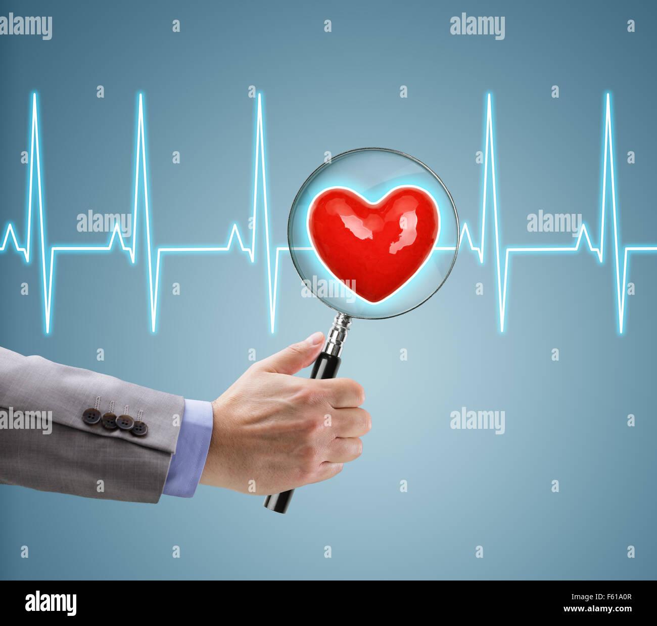 Heart health checkup - Stock Image