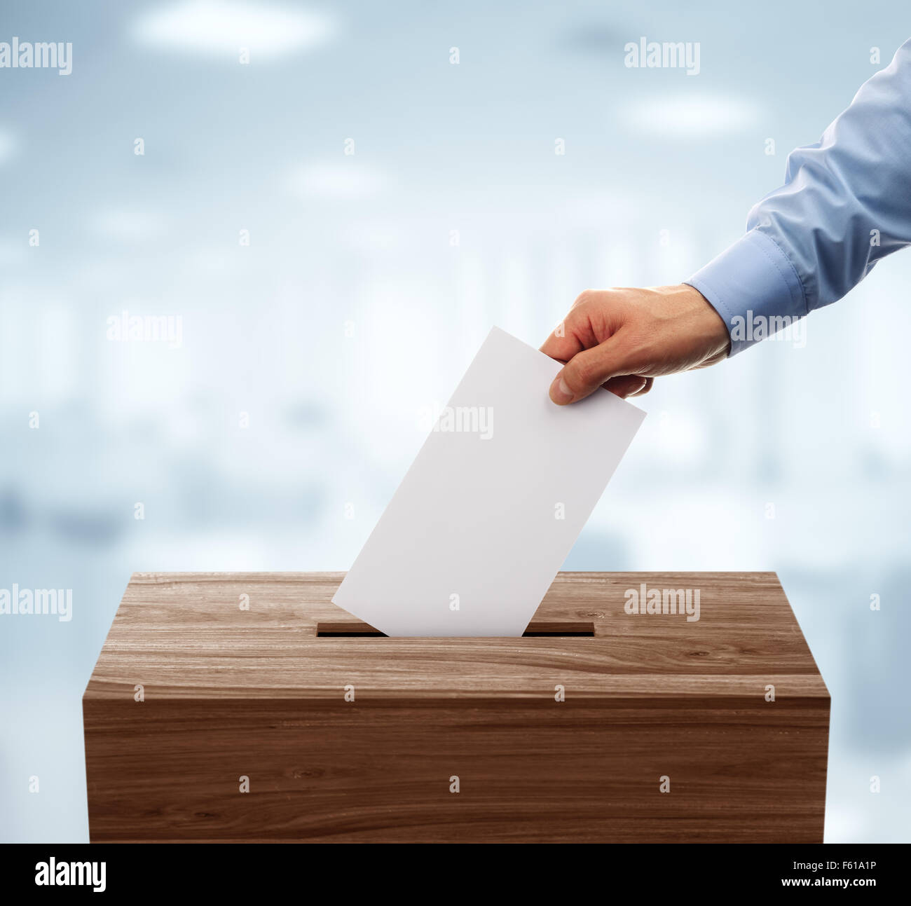 Ballot box - Stock Image