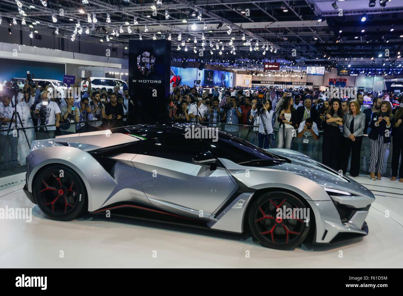 Dubai, United Arab Emirates. 10th Nov, 2015. A Sports Car Is Seen  Displaying At The Dubai International Motor Show In Dubai, The United Arab  Emirates, Nov.