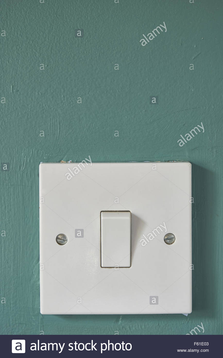 On Off 1 Gang 2 Way Light Switch Badly Decorated Painted Wall Electronics