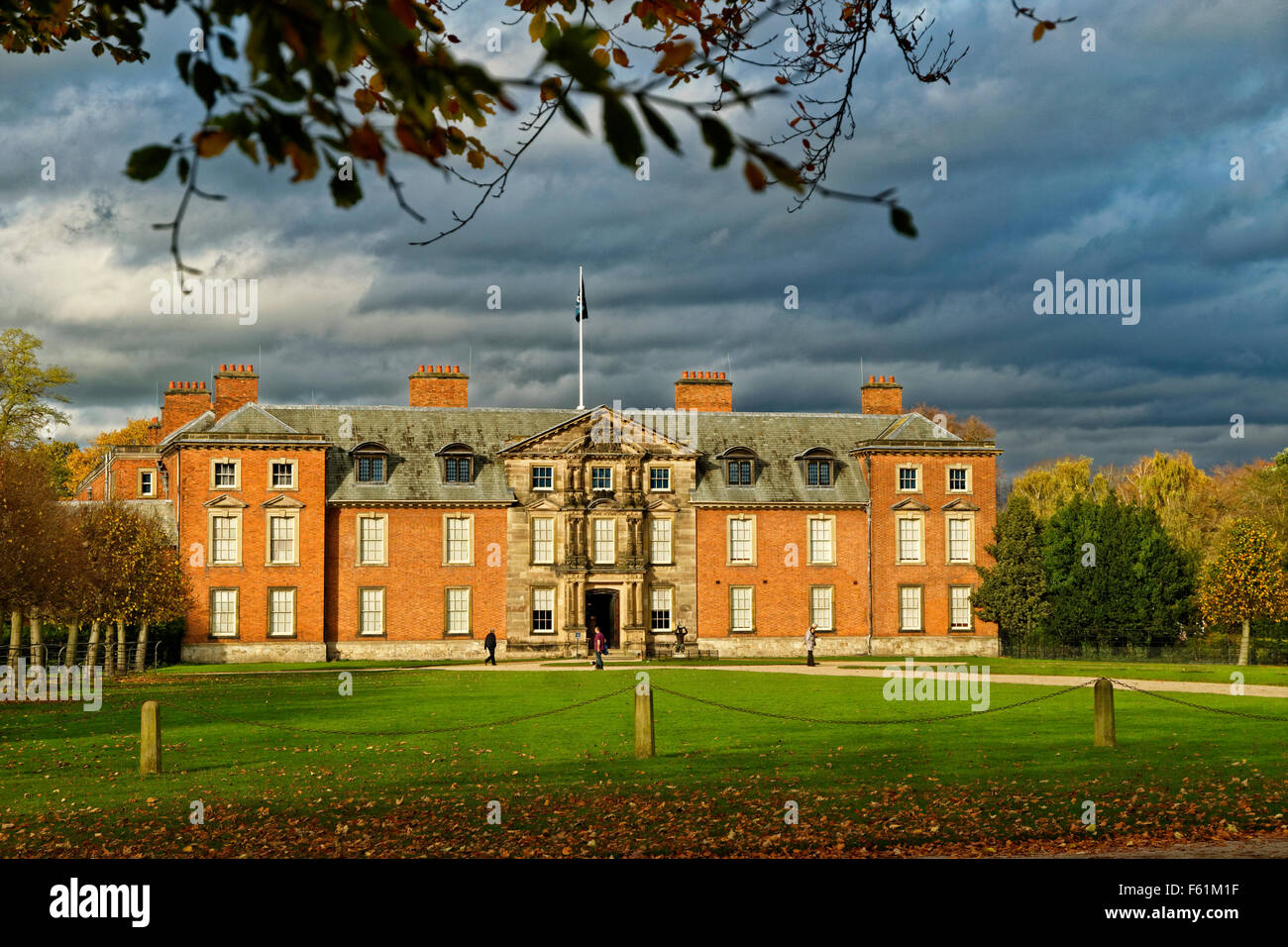 Dunham Massey Hall, Dunham Park, Altrincham, Trafford, Greater Manchester.(formerly Cheshire). Late seat of The - Stock Image