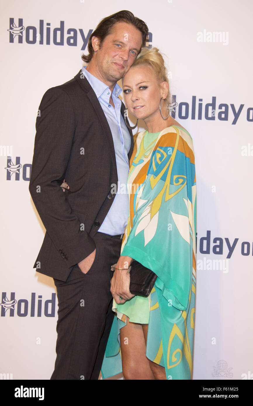 Celebrities attending the Holiday on Ice Gala at Hotel Atlantik  Featuring: Steffen von der Beeck, Jenny Elvers - Stock Image