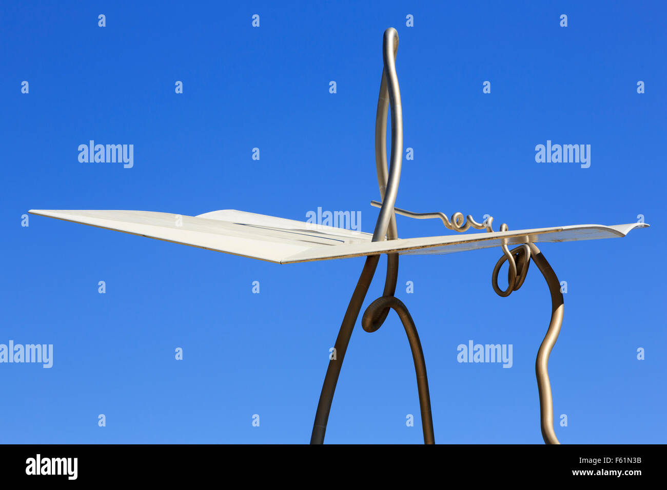 David i Goliat sculpture by Antoni Llena, Ciutat Vella District, Barcelona, Catalonia, Spain, Europe - Stock Image