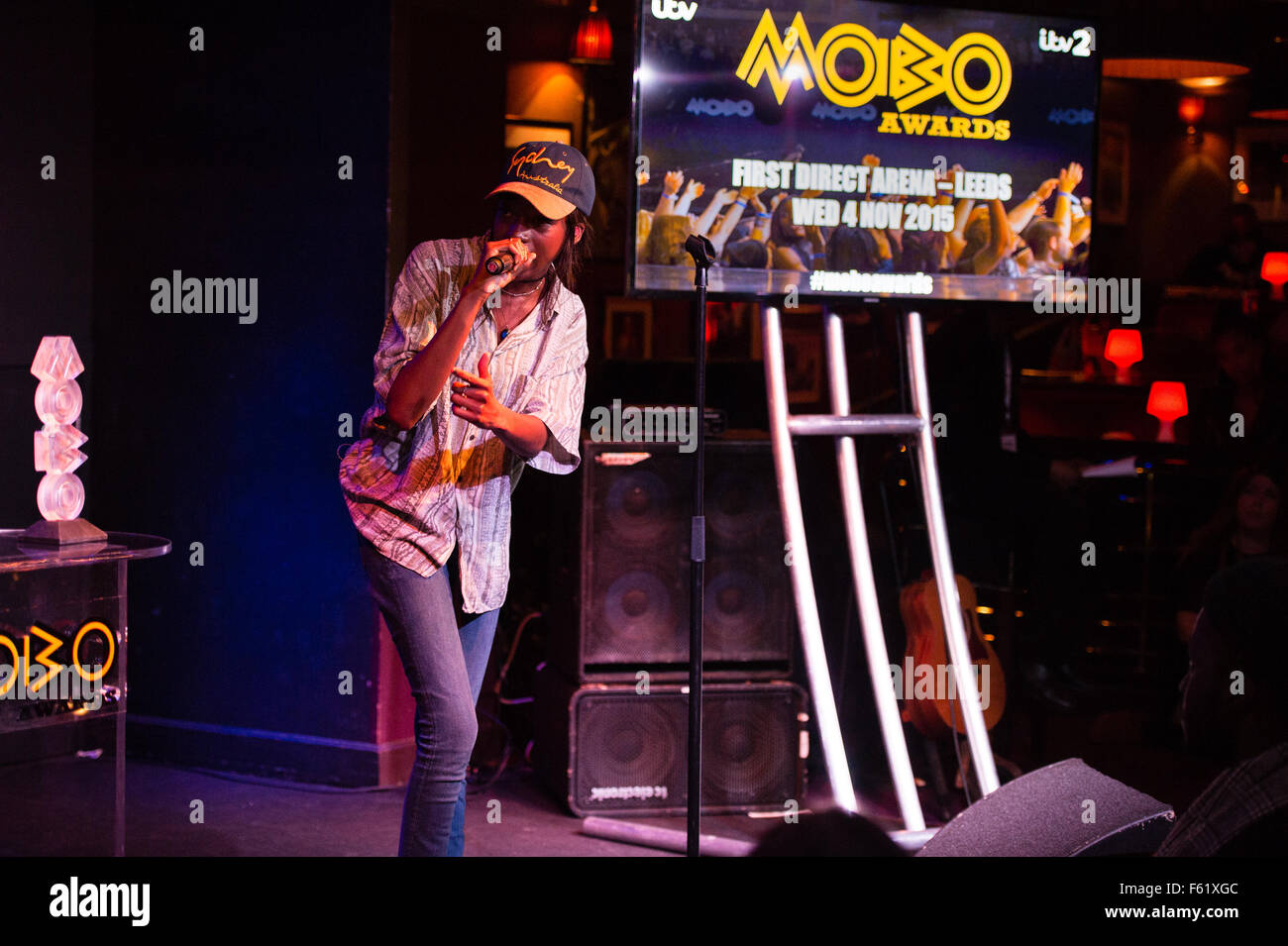 Nominations for the MOBO Awards are announced at London's Ronnie Scotts  Featuring: Little Simz Where: London, - Stock Image