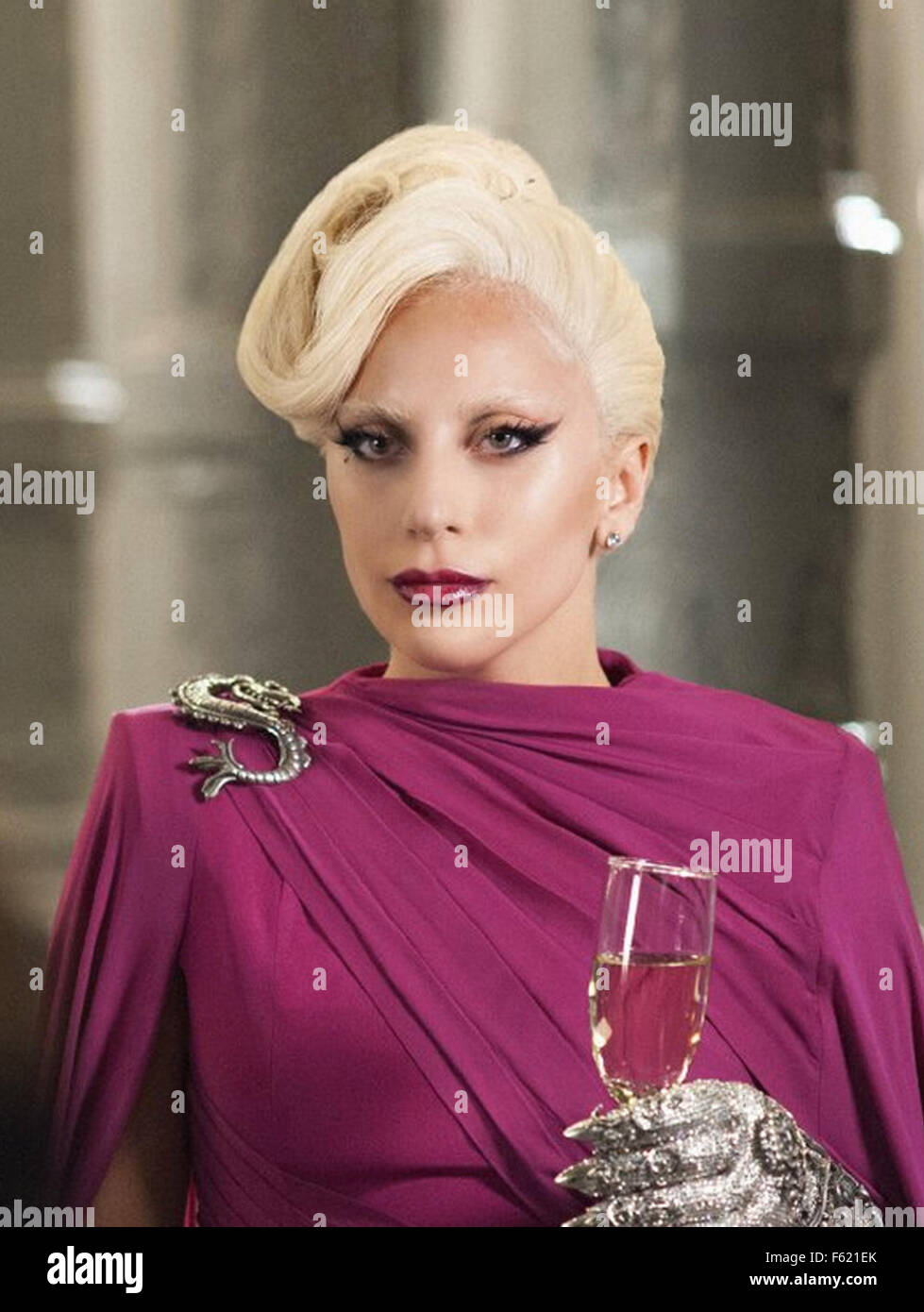 AMERICAN HORROR STORY 20th Century Fox Television series with Lady Gaga as The Countess Elizabeth in the fifth season - Stock Image