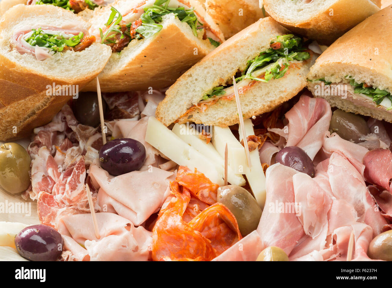 A Tasty Platter Of Italian Sandwiches And Cold Cuts Stock Photo Alamy