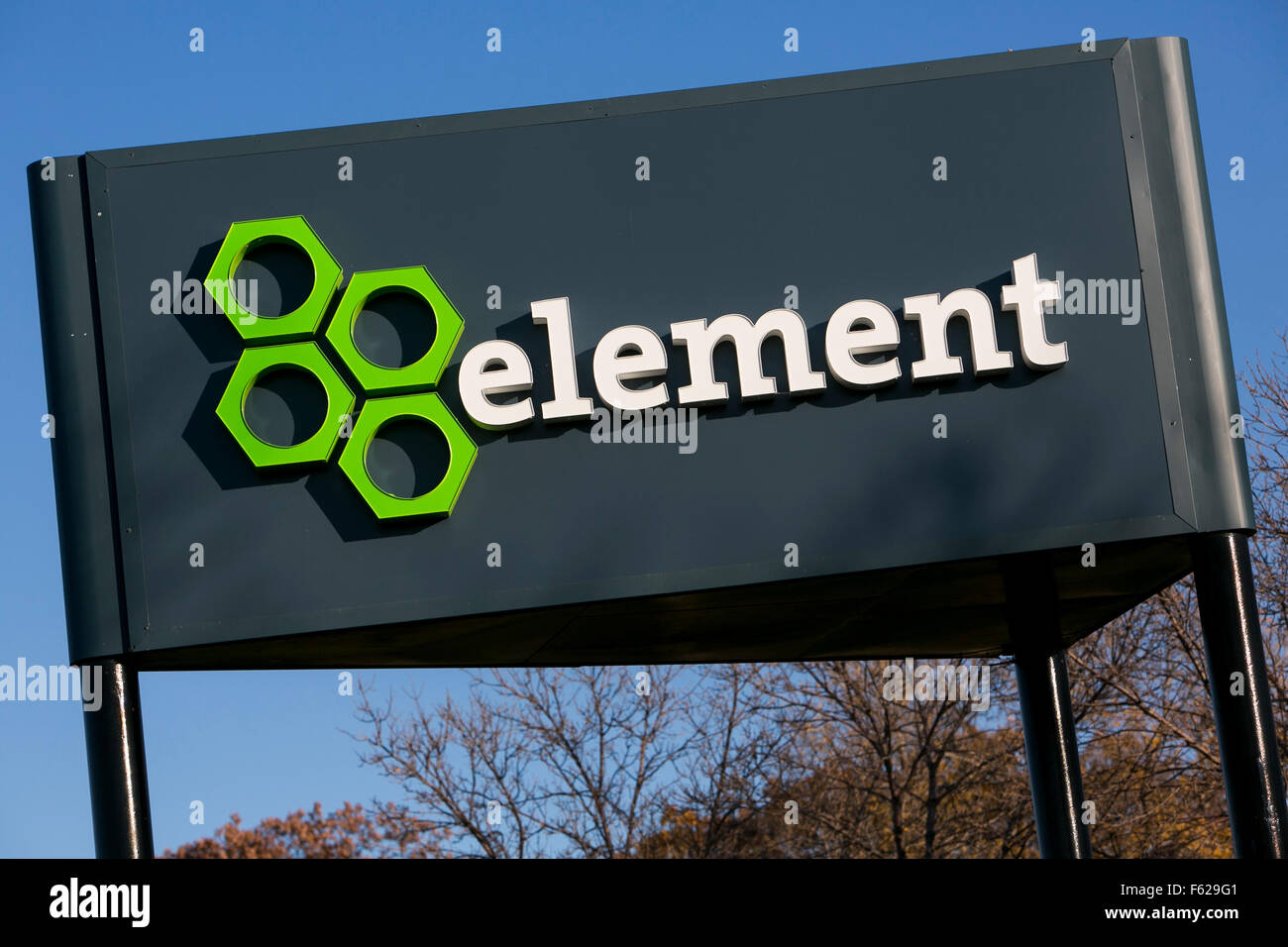 A logo sign outside of a facility occupied by Element Financial in Eden Prairie, Minnesota on October 24, 2015. - Stock Image
