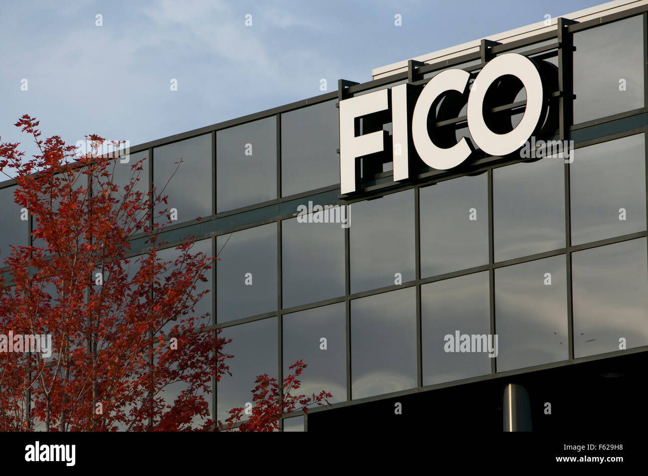 A logo sign outside of a facility occupied FICO in St. Paul, Minnesota on October 25, 2015. - Stock Image