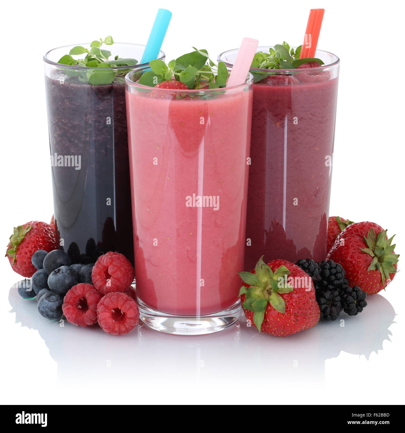 smoothie fruit juice with fresh fruits isolated on a white